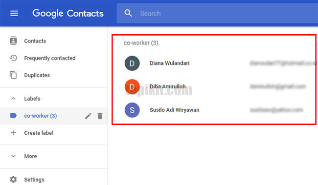 Membuat contact group di Gmail